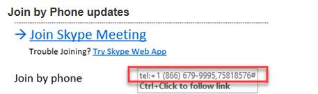 Skype for Business Meeting Invite formatting updates Summary