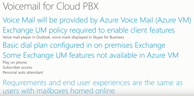 Skype Academy presents Cloud PBX Voicemail with Exchange