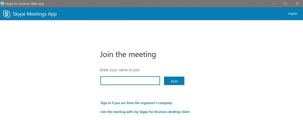microsoft skype for business web app download