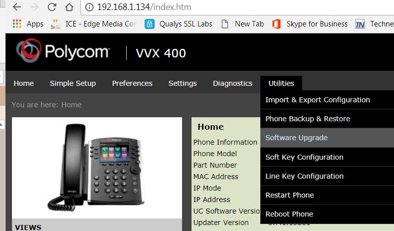 Polycom Vvx Enable Web Interface