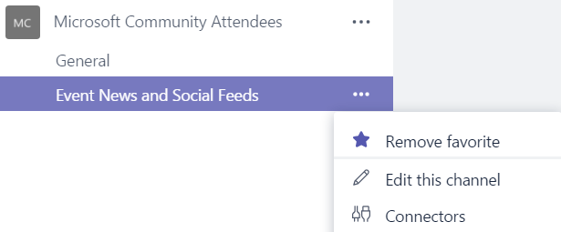 Microsoft Teams – Add RSS feeds Connector to Channel