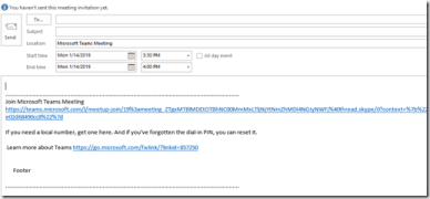 Microsoft Teams Outlook Meeting Add-in URL Formatting Issue – Martin